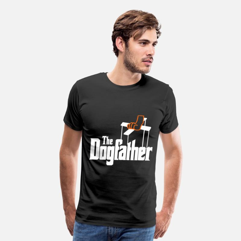 Animals T-Shirts - The Dogfather! - Men's Premium T-Shirt black