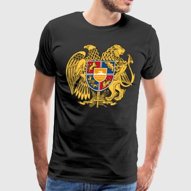 Gerb Armenia Coat of Arms Flag USSR - Men's Premium T-Shirt