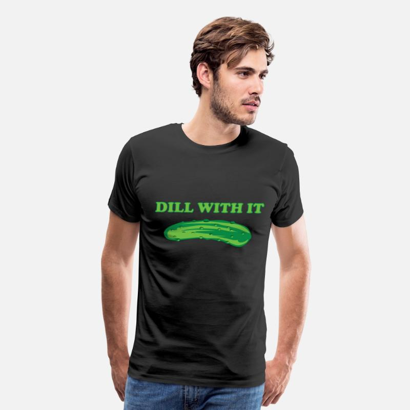 Food T-Shirts - Dill with it - Men's Premium T-Shirt black