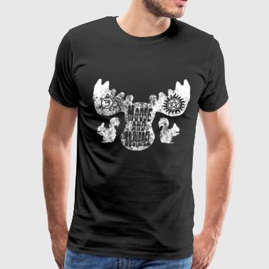Moose Squirrel Supernatural Sam Dean Crowley Unise - Men's Premium T-Shirt
