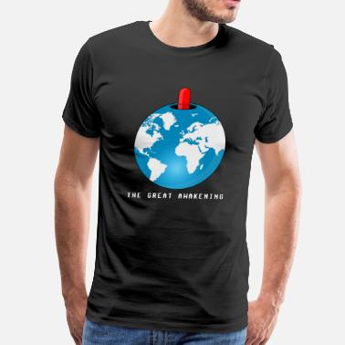 Anti-globalization Red Pill Earth - Men's Premium T-Shirt