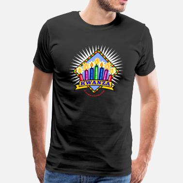 African American Holiday Celebration Happy Kwanzaa Black African American Holiday  - Men's Premium T-Shirt