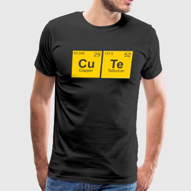 Cute chemistry science student - Men's Premium T-Shirt