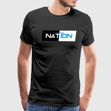 Lone Wolf Nation Negative Logo - Men's Premium T-Shirt