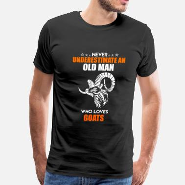 Goat Man Old Man Who Loves Goats - Men's Premium T-Shirt