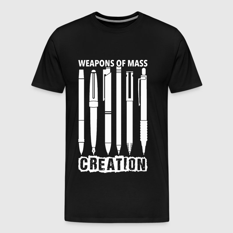 Pen lover - Weapons of mass creation - Men's Premium T-Shirt
