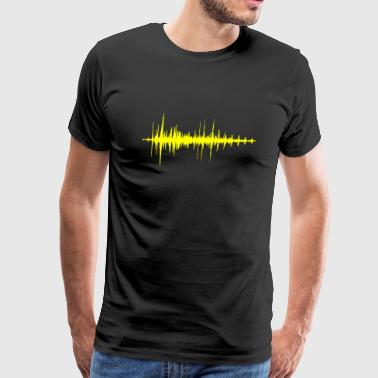 Audiowave Yellow - Men's Premium T-Shirt