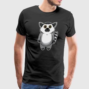 Look Face Baby Animal Child Lemur Cute Sweet Gift - Men's Premium T-Shirt
