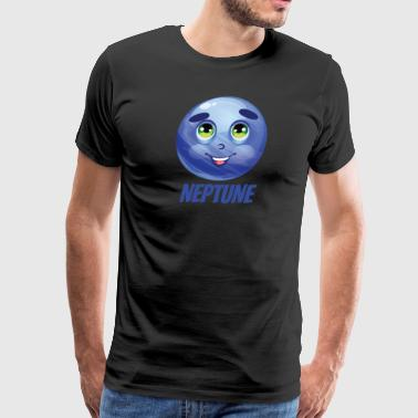 Cartoon Planet Neptune - Men's Premium T-Shirt
