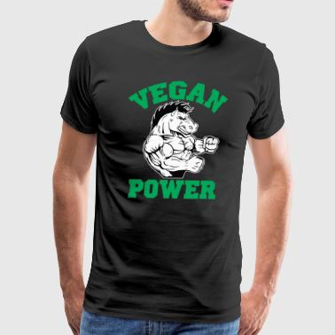 Vegan Power Horse - Men's Premium T-Shirt