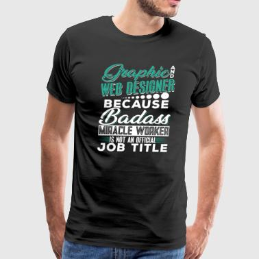 Nodejs GRAPHIC AND WEB DESIGNER - Men's Premium T-Shirt