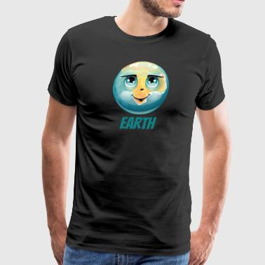 Cartoon Planet Earth - Men's Premium T-Shirt