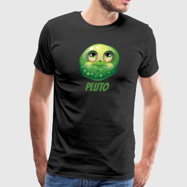 Cartoon Planet Pluto - Men's Premium T-Shirt