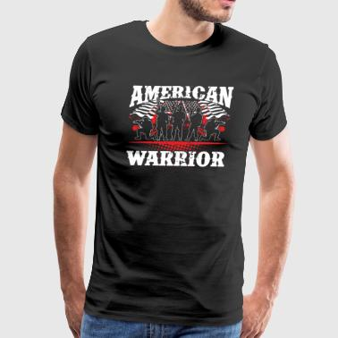 American Warrior! USA! Proud! - Men's Premium T-Shirt