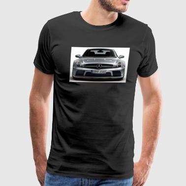 mercedes_sl_65_amg_black_series_silver_f - Men's Premium T-Shirt