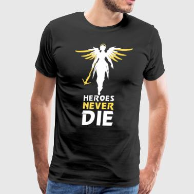 Heroes Never Die White - Men's Premium T-Shirt
