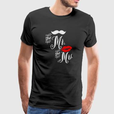 Mr and Mrs - Men's Premium T-Shirt
