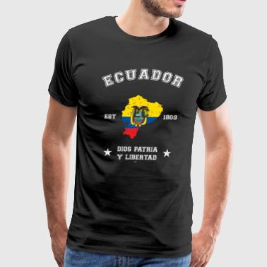 Ecuador vintage map with date of founding - Men's Premium T-Shirt