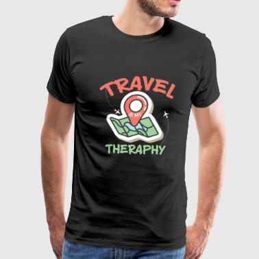 Travel is my therapy durin holidays and beaches - Men's Premium T-Shirt