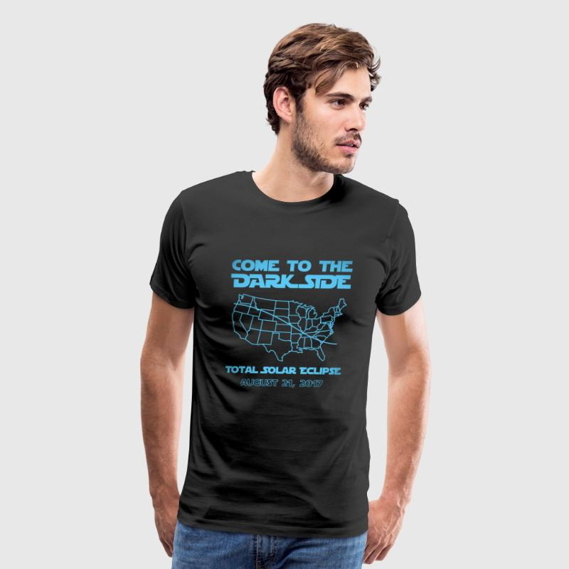 Come To The Dark Side Total Solar Eclipse  - Men's Premium T-Shirt