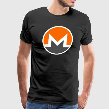 HD Monero Official Logo Monero Coin - Men's Premium T-Shirt