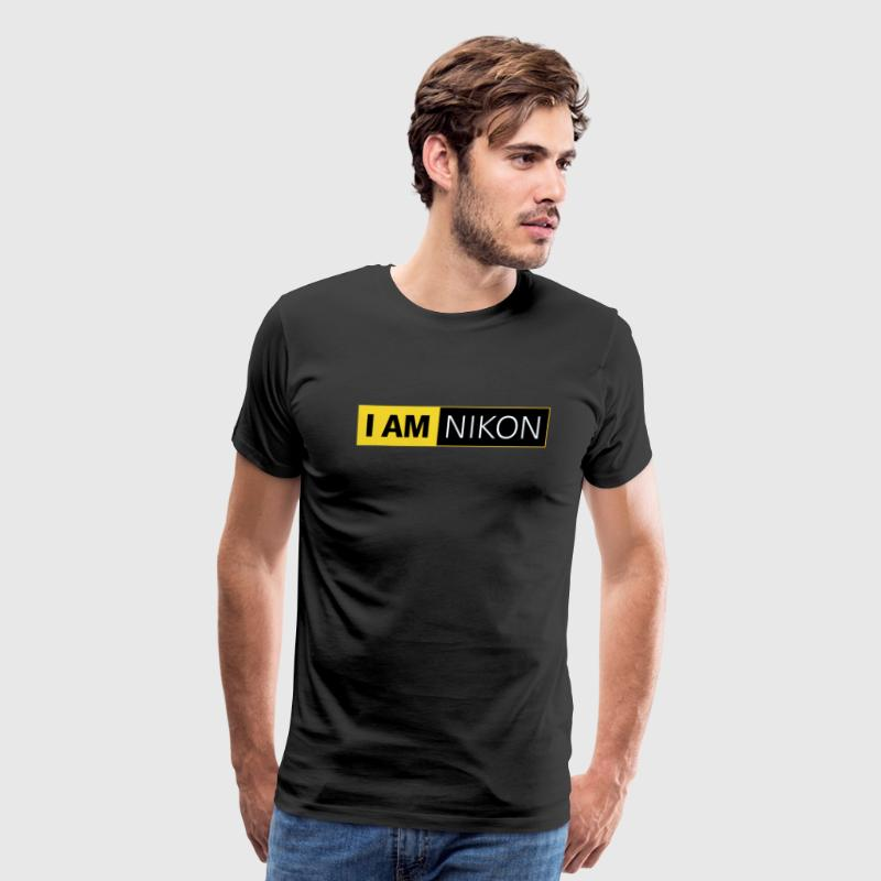 I AM NIKON Fan Campaign D4 F DSLR 35 mm APS SLR - Men's Premium T-Shirt