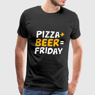 Pizza + beer = Friday. - Men's Premium T-Shirt