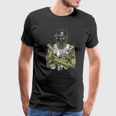 Gangsta Zombie - Men's Premium T-Shirt