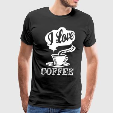 I love Coffee in the Morning - Men's Premium T-Shirt