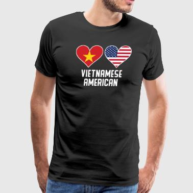 Vietnamese American Heart Flags - Men's Premium T-Shirt