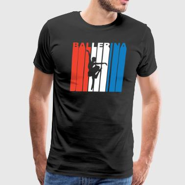 Red White And Blue Ballerina - Men's Premium T-Shirt