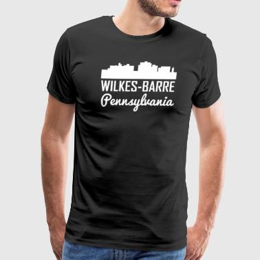 Wilkes-Barre Pennsylvania Skyline - Men's Premium T-Shirt