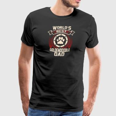 World's Best Goldendoodle Dad - Men's Premium T-Shirt