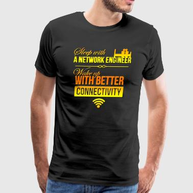 network engineer sleep with a network engineer - Men's Premium T-Shirt