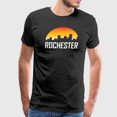 Rochester Rochester New York Sunset Skyline - Men's Premium T-Shirt