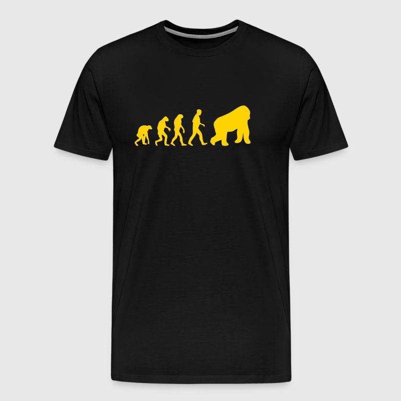 gorilla evolution - Men's Premium T-Shirt