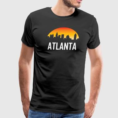 Atlanta Georgia Sunset Skyline - Men's Premium T-Shirt