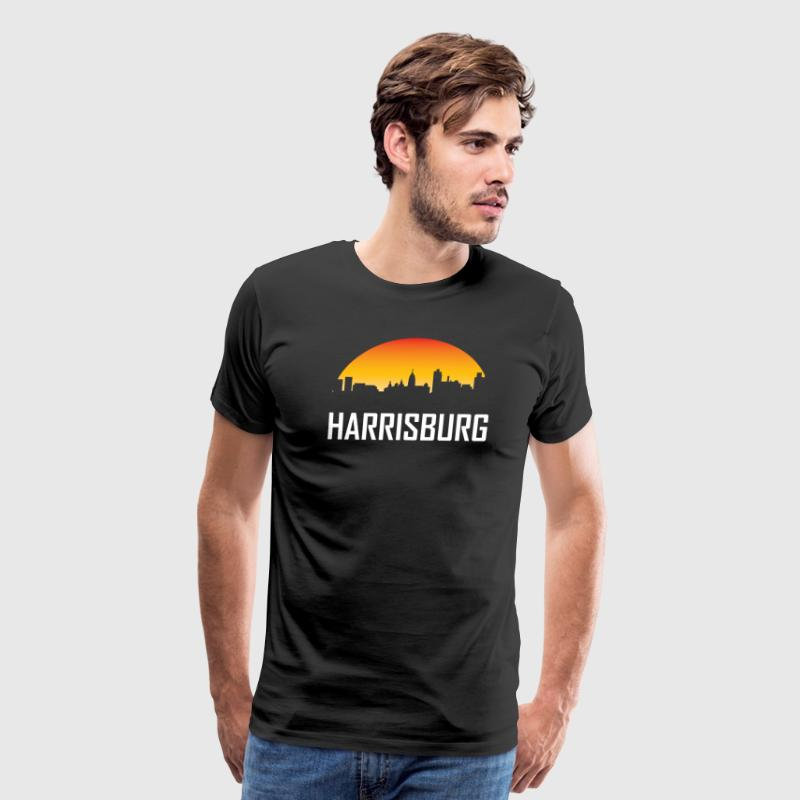 Harrisburg Pennsylvania Sunset Skyline - Men's Premium T-Shirt