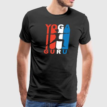Yoga Guru Red White And Blue Yoga Guru - Men's Premium T-Shirt