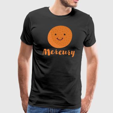 Cartoon Planet Mercury - Men's Premium T-Shirt