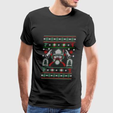 Christmas ugly sweater for Firefighter - Men's Premium T-Shirt