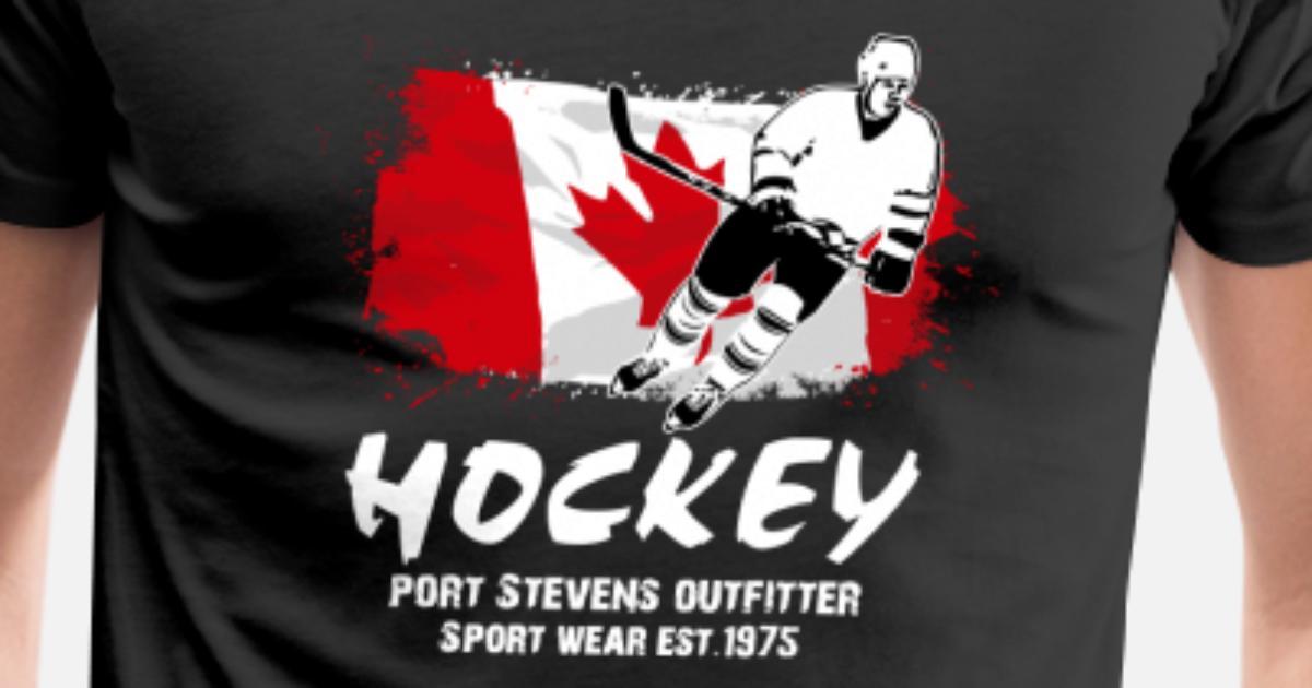 best service 4a18d 25585 Icehockey - Hockey - Canada Flag Men's Premium T-Shirt | Spreadshirt