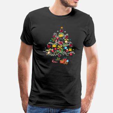 Wine Xmas Wine Christmas Tree T Shirt Wine Xmas Tee - Men's Premium T-Shirt