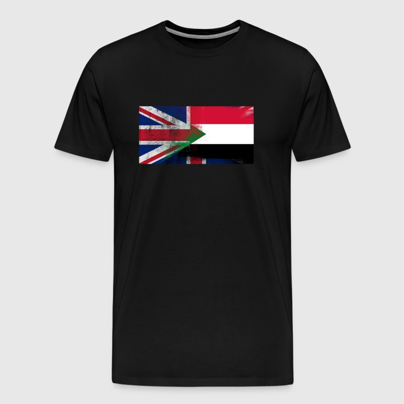 British Sudanese Half Sudan Half UK Flag - Men's Premium T-Shirt
