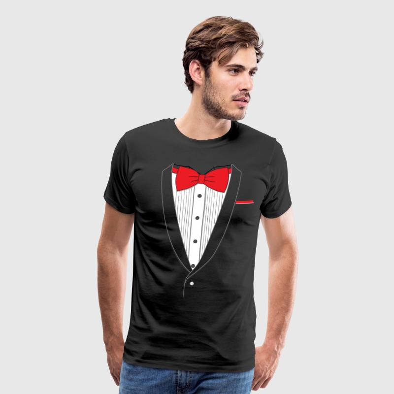 Fake Tuxedo Red Tie - Men's Premium T-Shirt