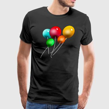 Balloon Couple Balloons - Men's Premium T-Shirt