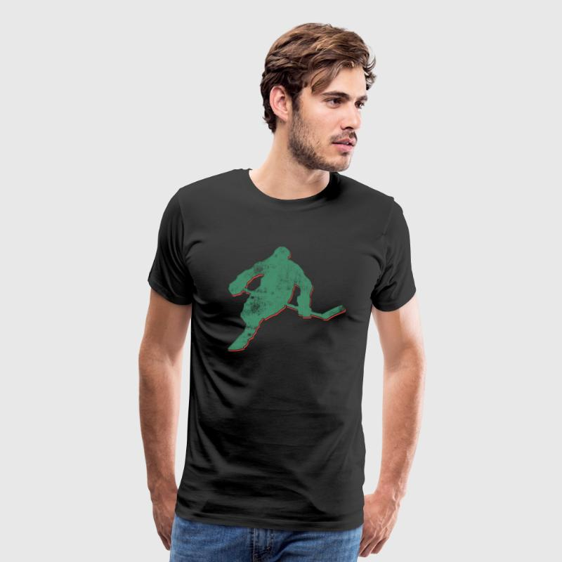 Hockey Vintage Abstract - Men's Premium T-Shirt