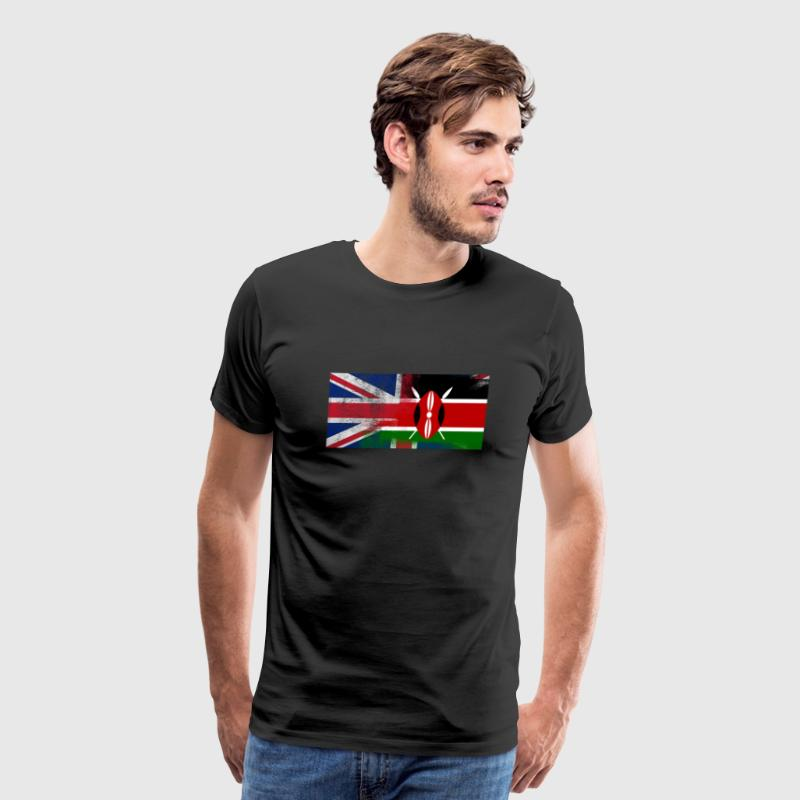 British Kenyan Half Kenya Half UK Flag - Men's Premium T-Shirt