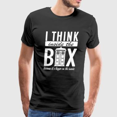 I Think Inside The Box - Men's Premium T-Shirt
