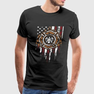 Firefighters Flag Shirt - Men's Premium T-Shirt